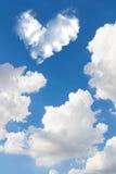 backgrou de nature de ciel bleu et de nuage de coeur d'abrégé sur romantique nuage Image libre de droits