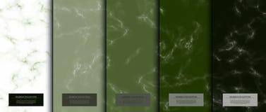 Backgrou di marmo di verde di matcha di struttura del modello dell'estratto della raccolta illustrazione vettoriale