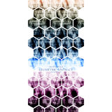 Backgrou moderno abstracto digital tecnológico geométrico del hexágono Fotografía de archivo