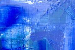 Backgrou pintado abstrato azul Fotografia de Stock