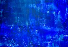 Backgrou pintado abstrato azul Imagem de Stock