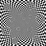 Backgrou preto e branco abstrato do teste padrão da xadrez 3d Foto de Stock Royalty Free