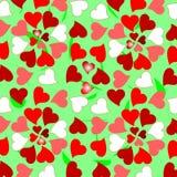 Backgrou romantico del reticolo dei cuori floreali dei biglietti di S. Valentino illustrazione vettoriale