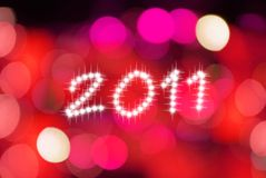 Backgroud 2011 de la Feliz Año Nuevo Imagenes de archivo