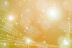 Backgroud abstrait avec la fusée magique et l'étoile éclatante Photographie stock