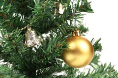 Backgroud of Christmas tree and  toy Stock Images