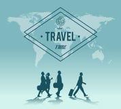 Backgroud de carte du monde de temps de déplacement Photographie stock libre de droits