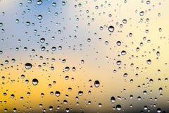 Backgroud delle gocce di pioggia Fotografie Stock