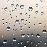 Backgroud delle gocce di pioggia Fotografie Stock Libere da Diritti