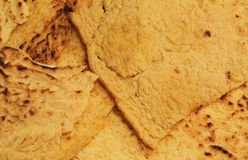 Backgroudn macro detail of chickpea flour Italian specialties. Macro detail of chickpea flour Italian specialties with whole wheat flour called Farinata di Ceci Royalty Free Stock Image