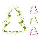 Backgrouds de los árboles de navidad stock de ilustración