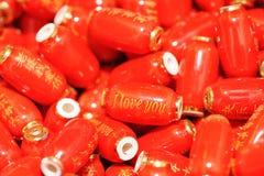 Backgroumd chinois rouge de lanterne avec amour Images libres de droits