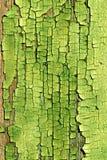 backgroun有裂痕的绿色油漆 免版税库存图片