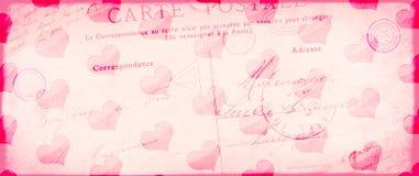 Backgroun валентинки Grunge винтажное с старой бумажной текстурой Стоковые Фото