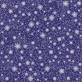 冬天白色多雪的无缝的样式或backgroun 免版税库存图片