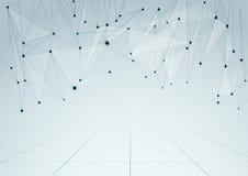 Backgroun abstracto de la perspectiva de las conexiones de red Fotografía de archivo