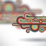 Backgroun abstrait des cercles et des lignes colorés Images libres de droits