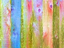 Backgroun afflitto struttura di legno macchiato variopinto Fotografia Stock Libera da Diritti