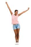 Backgroun afroamericano hermoso del blanco del modelo de moda del primer Fotografía de archivo libre de regalías