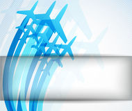 Backgroun with airplanes. Backgroun with blue airplanes. Abstract bright illustration royalty free illustration