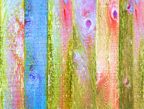 Backgroun apenado textura de madera manchado colorido Foto de archivo libre de regalías