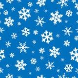 backgroun bezszwowi płatki śniegu Zdjęcia Royalty Free