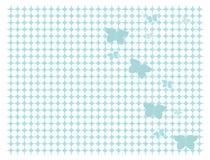 Backgroun bleu-clair de guindineau Photos libres de droits