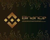 Backgroun-blockchain binance Designsammlung Lizenzfreie Stockfotos
