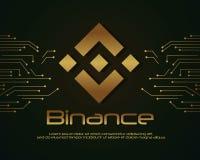 Backgroun-blockchain binance Designsammlung Lizenzfreie Stockbilder