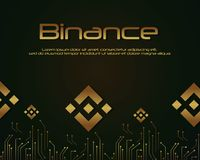 Backgroun-blockchain binance Designsammlung Lizenzfreies Stockfoto