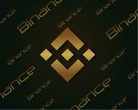 Backgroun-blockchain binance Designsammlung Stockfotografie