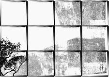 Backgroun branco, retro preto Ilustração do Vetor