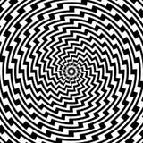Backgroun circolare a spirale variopinto di illusione di progettazione Fotografia Stock