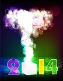 Backgroun creativo 2014 de la celebración de la Feliz Año Nuevo Imagen de archivo libre de regalías
