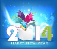 Backgroun creativo 2014 de la celebración de la Feliz Año Nuevo Imagenes de archivo