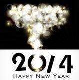 Backgroun creativo 2014 de la celebración de la Feliz Año Nuevo Imágenes de archivo libres de regalías