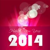 Backgroun creativo 2014 di celebrazione del buon anno Fotografia Stock