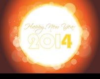 Backgroun creativo 2014 di celebrazione del buon anno Fotografie Stock