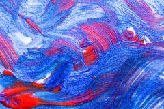 Backgroun criativo tirado da arte da pintura acrílica da onda mão abstrata Imagens de Stock