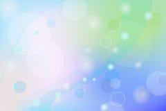 Backgroun de incandescência abstrato azul de Bokeh Fotografia de Stock
