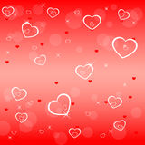 Backgroun de las tarjetas del día de San Valentín con los corazones Imagenes de archivo