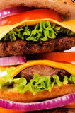 Backgroun del cheeseburger Immagine Stock