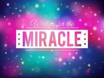 Backgroun del milagro stock de ilustración