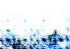 Backgroun digital azul tecnológico geométrico del extracto del triángulo Fotos de archivo libres de regalías