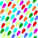Backgroun för modell för regnbågefärgregndroppar sömlös vektor illustrationer