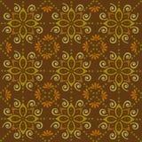 Backgroun folclorico di marrone dell'ornamento del batik [convertito illustrazione di stock
