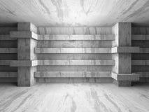 Backgroun geometrico di architettura della stanza concreta astratta del seminterrato Immagini Stock