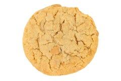 backgroun masła ciastka odosobniony arachidowy biel Fotografia Stock