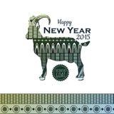 Backgroun mit Ziege Neues Jahr 2015 Stockbild