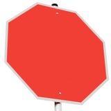 Backgroun obrigatório do branco do símbolo da parada do código de estrada do sinal de estrada Imagens de Stock Royalty Free